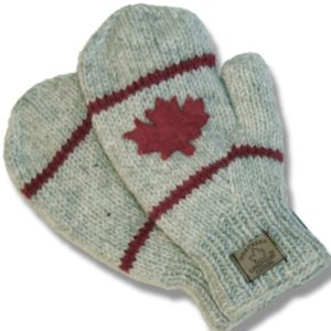 Adult Knitted Mittens