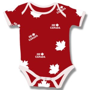 Oh Canada Maple leaf  on Red