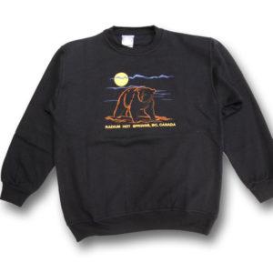 Outline Bear full front embroidery fleece sweatshirt