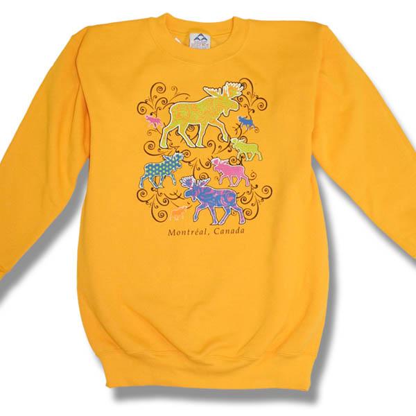 New Scroll Moose Adult Sweatshirt