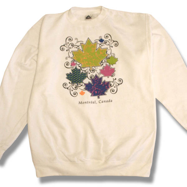New Scroll Maple Leaf  Adult Sweatshirt