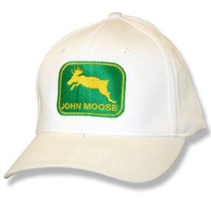 John Moose White Baseball Cap