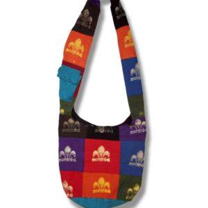 Shoulder bag  1 side print w/Fleur de Lys Montreal
