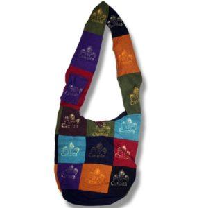 Shoulder bag 1 side print w/fleur de Lys Canada