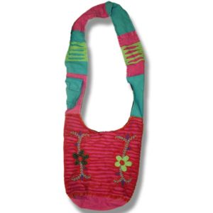 Shoulder bag 1 side print with Daisies