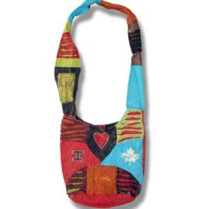 Shoulder bag 1 side print with I love Canada