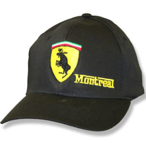 Mooserrari Montreal Black Fitted  Baseball Cap