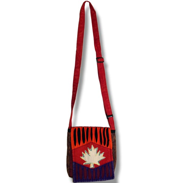 Passport bag with Maple Leaf Cutout
