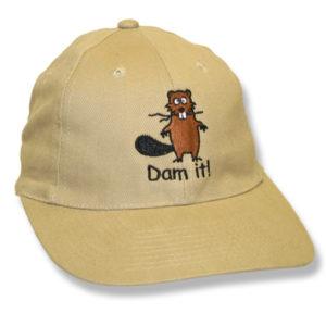 Dam It Beaver Taupe Baseball Cap