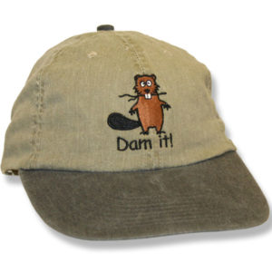 Dam It Beaver Natural/Forest Green Baseball Cap