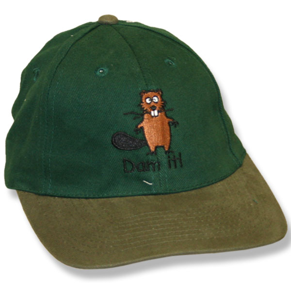 Dam It Beaver Forest Green/Khaki Baseball Cap