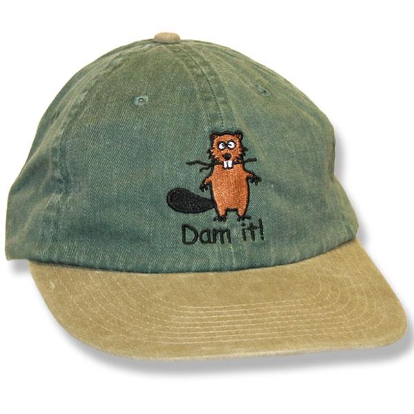 Dam It Beaver Hunter Green/Khaki Baseball Cap