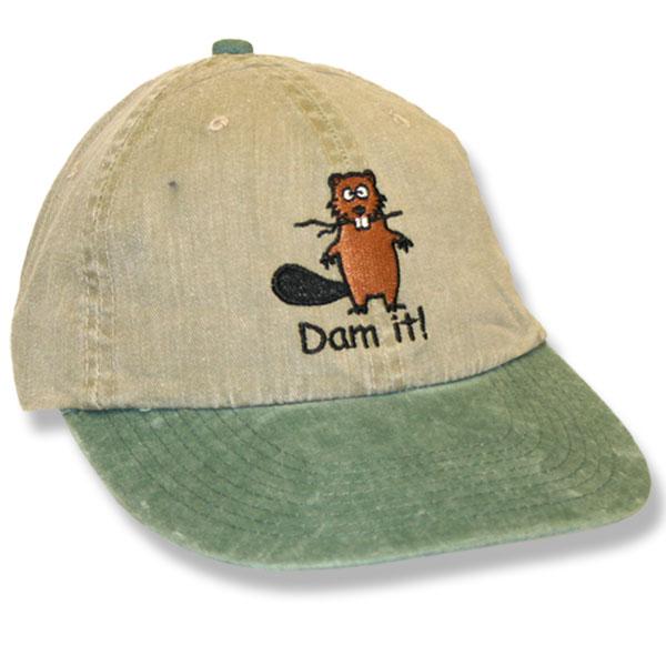 Dam It Beaver Khaki/Hunter Baseball Cap