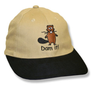 Dam It Beaver Stone/Black Baseball Cap