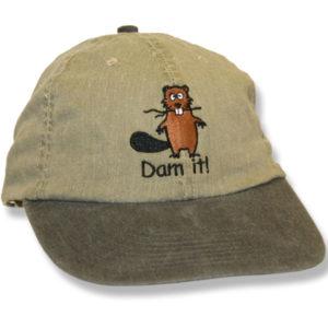 Dam It Beaver Khaki/Black Baseball Cap