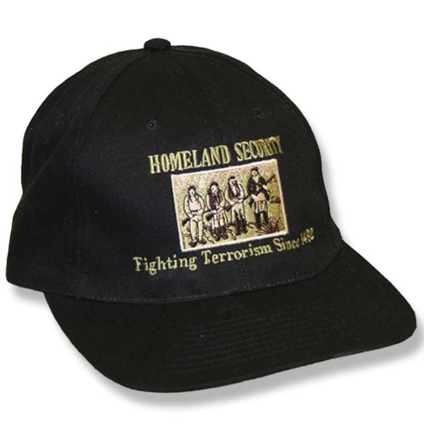 Home Land Security Fitted Black Baseball Cap