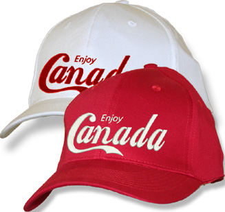 Enjoy Canada Red Fitted Baseball Cap