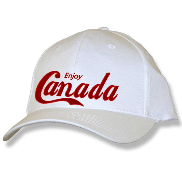 Enjoy Canada White Baseball Cap