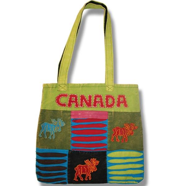 Tote bag with moose applique
