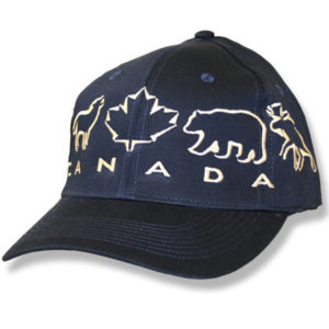 Animals Maple Leaf Navy Baseball Cap