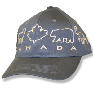 Animals Maple Leaf Charcoal Baseball Cap