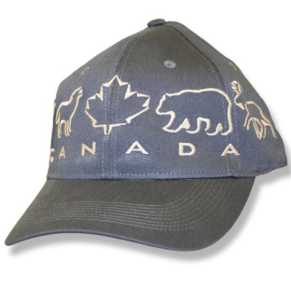 Animals Maple Leaf Charcoal Baseball Cap
