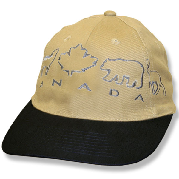 Animals Maple Leaf Stone/Black Baseball Cap