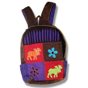School Backpack flowers& moose