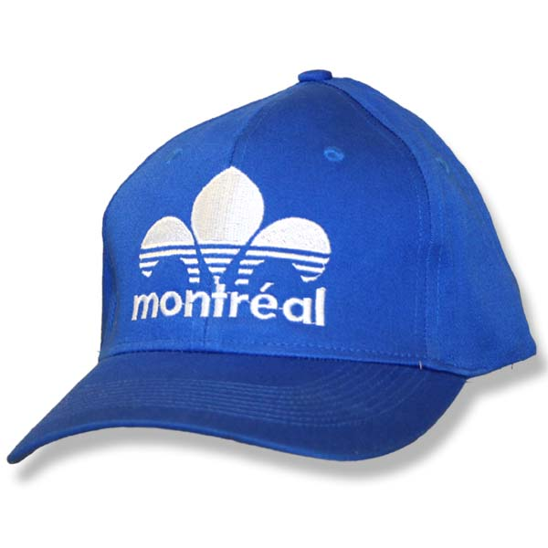 Montreal Striped Fleur de Lys Royal Fitted Baseball Cap