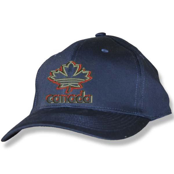 Maple Leaf 3D Navy Baseball Cap