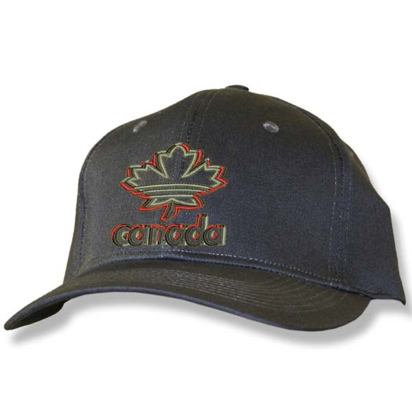 Maple Leaf 3D Charcoal Baseball Cap