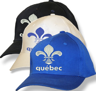 Quebec Fleur de Lys Navy Fitted Baseball Cap