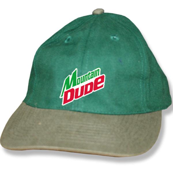 Mountain Dude Forest Green/Khaki Baseball Cap