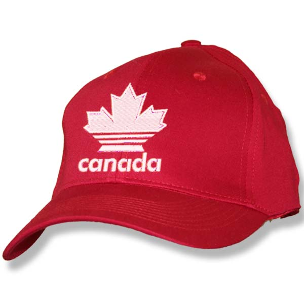 Canada Striped Maple Leaf Red Baseball Cap