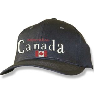 Canada Flag Charcoal Baseball Cap