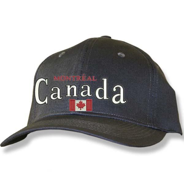 Canada Flag Charcoal Baseball Cap