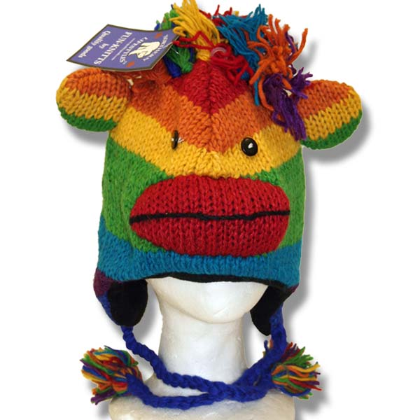 Monkey Rainbow Tuque