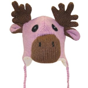 Moose Head Pink Tuque