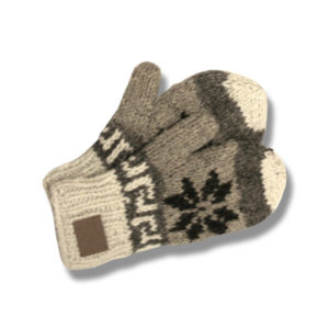 Almond Beige Mix Mittens