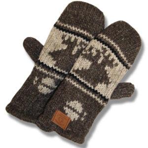 Moose Brown Mittens