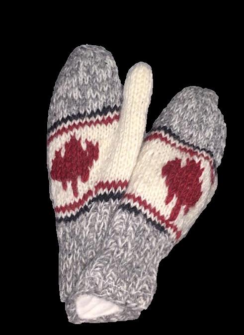 Adult Woolen mittens ML app. 100% wool