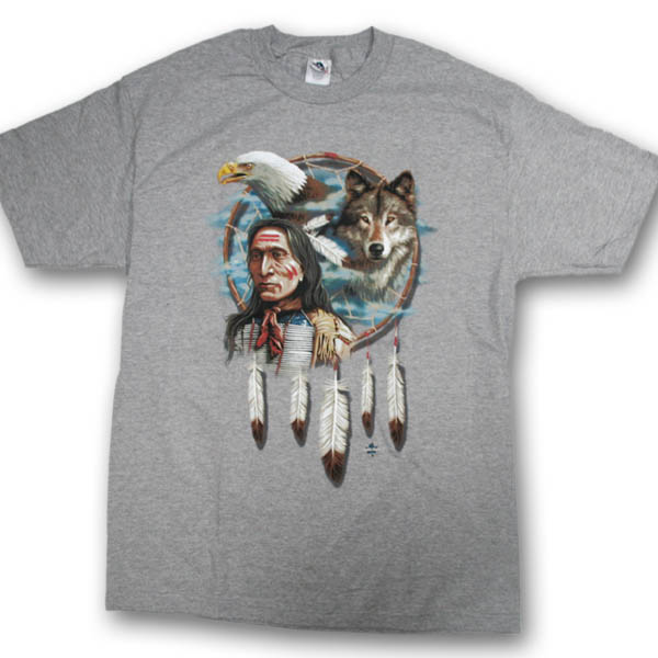 Dream Catcher Collage Multi-color Print T-Shirt