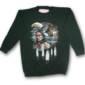 Dream Catcher Collage Multi-color Print Sweatshirt