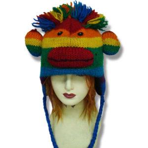 Monkey Head Rainbow Kids Tuque