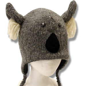 Koala Head Kids Animal Tuque