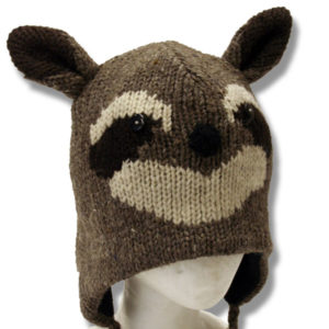 Racoon #2 Head Kids Tuque
