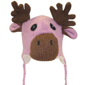 Moose Pink Kids Tuque