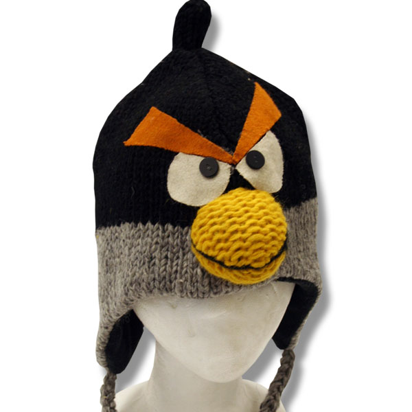 Angry Crow Kids Animal Tuque