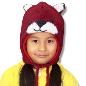Red Fox Head Kids Tuque