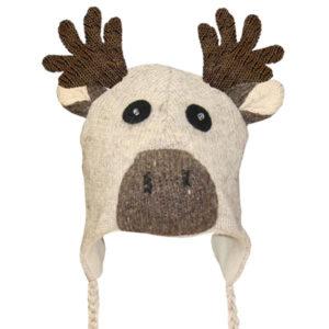 Moose Beige Kids Tuque